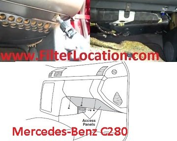 Mercedes Benz C280 cabin air filter location
