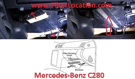 Mercedes Benz   C280 cabin air filter