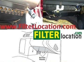 Mercedes Benz CLK320 cabin air filter location