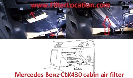 Mercedes Benz CLK430 cabin air filter