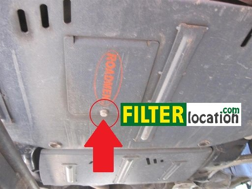 Remove oil filter protection cover Golf V