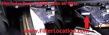 Replace Mercedes BenzCLK430  cabin air filter