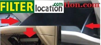 Toyota Yaris cabin air filter location