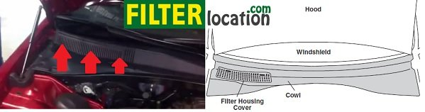 Chrysler 200 cabin air filter location