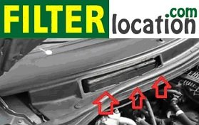 Ford Mercury Monteray cabin air filter location