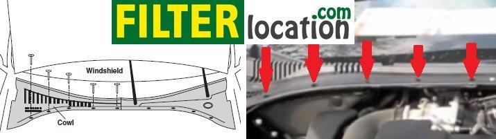 Ford Thunderbird cabin air filter location