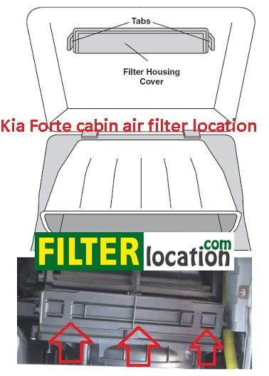 Kia Forte filter housing cover location