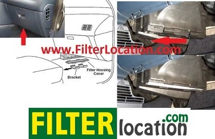 Locate Chrysler Town & Country cabin air filter