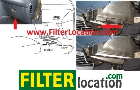 Locate Dodge Grand grand Caravan cabin air filter