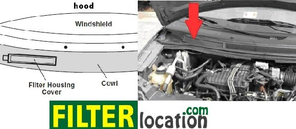2005 f250 oil filter location