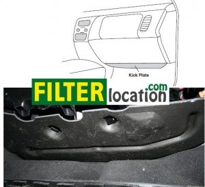 Locate VW Touareg cabin air filter