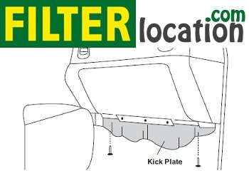 2003-2005 Chevrolet Suburban cabin air filter location