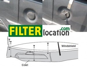 Locate Chevrolet Equinox cabin air filter