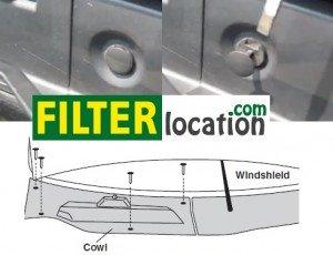Locate Chevrolet Equinox cabin air filter