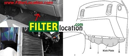 chevrolet suburban cabin air filter location