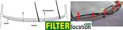 Locate Mercury Villager cabin air filter