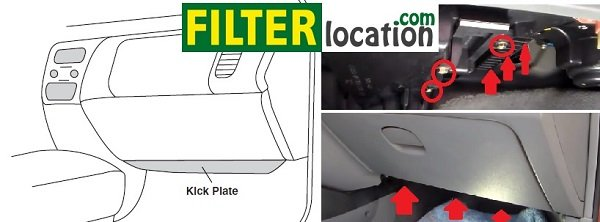 Locate Suzuki Reno cabin air filter
