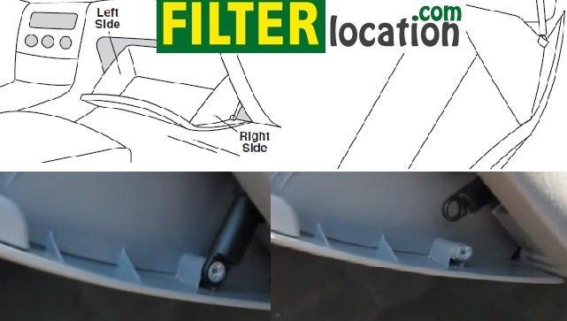 Locate Toyota Matrix cabin air filter