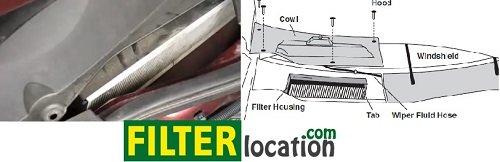 Pontiac Torrent cabin air filter location