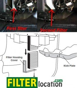 Replace Chevrolet Silverado cabin air filter location