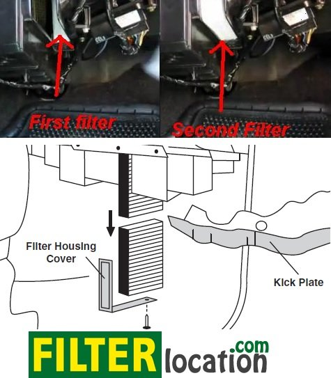 chevrolet silverado cabin air filter location