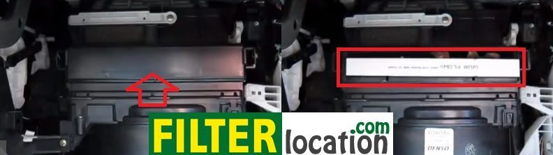 Toyota Matrix cabin air filter location