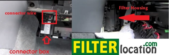 Volvo XC70 cabin air fitler location