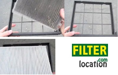 Install Kia Spectra new cabin air filter