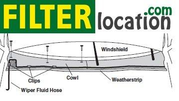 Locate Buick LaCrosse Super cabin air filter