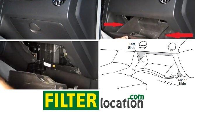 Pontiac G3 cabin air filter location