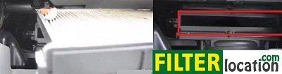 Remove Kia Spectra cabin air filter frame