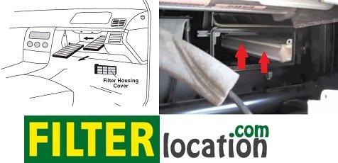 Change Mercedes S430 cabin air filter 1