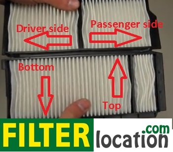 Insert Mazda 3 cabin air filter