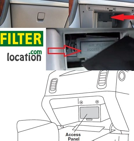 Locate Chevrolet Venture cabin air filter