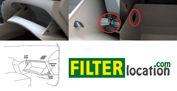 Where to locate Hyundai Azera cabin air filter