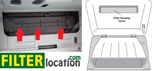 Locate Hyunday Sonata cabin air filter 1999-2004; 2006-2014