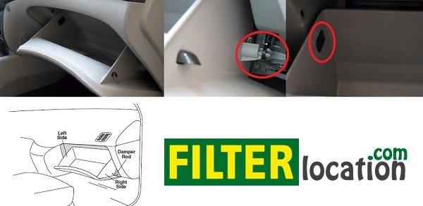Locate KiaMagentis cabin air filter