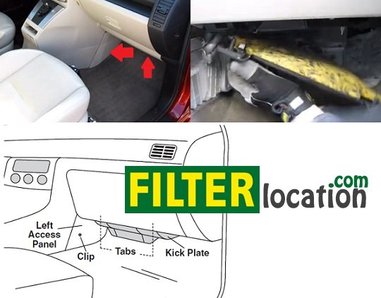 mazda 5 cabin air filter location