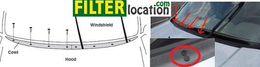 Locate Mazda tribute cabin air filter