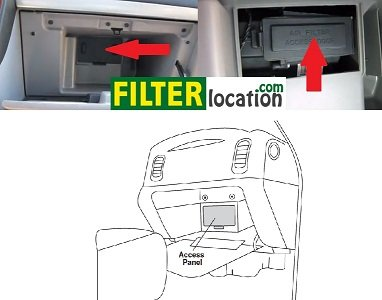 Locate Pontiac Trans Sport cabin air filter location