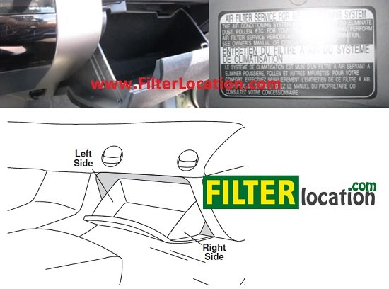 Locate Toyota Tacoma cabin air filter