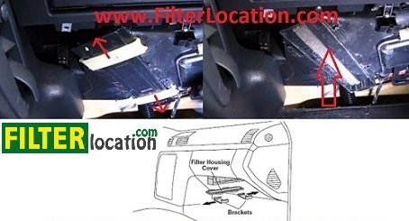 Mercedes S430 cabin air filter location 2