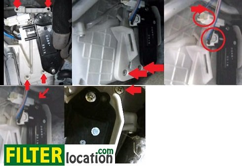 Remove Mazda 5 junction box bracket and unplug connector