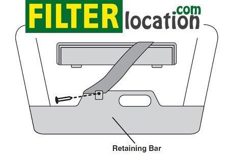 Kia Sedona retaining bar and unfasten elastic strap
