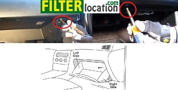 Locate Kia Sedona cabin air filter