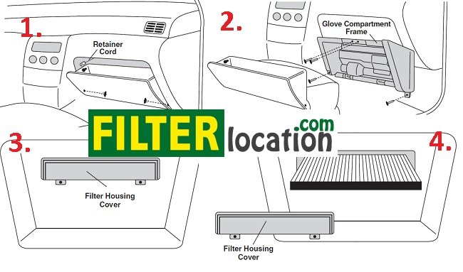 Locate and change 2002-2006 Nissan Altima cabin air filter