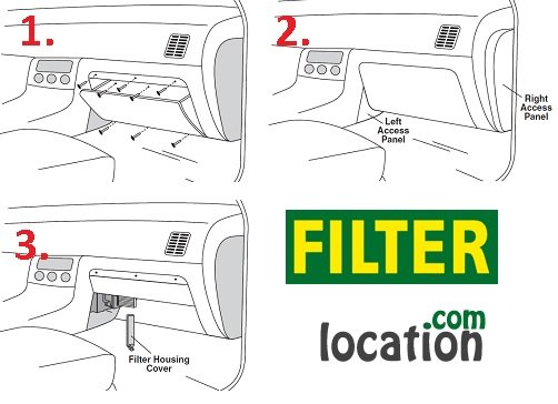 Locate and change 2007-on Nissan Altima cabin air filter