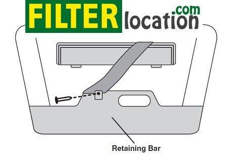 Remove screw on retaining bar on Entourage