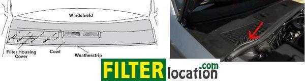 VW Rabbit cabin air filter location