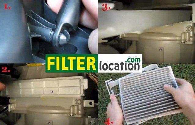 2004-2007 Scion xB cabin air filter location